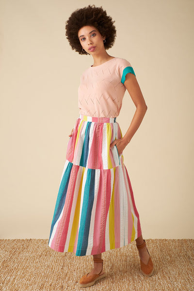 Iona Skirt - Summer Rainbow Stripe