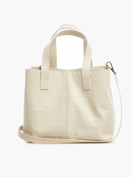 Ilse Mini Tote - Bone Croco