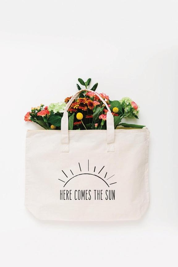 Here Comes the Sun Tote Bag - Large