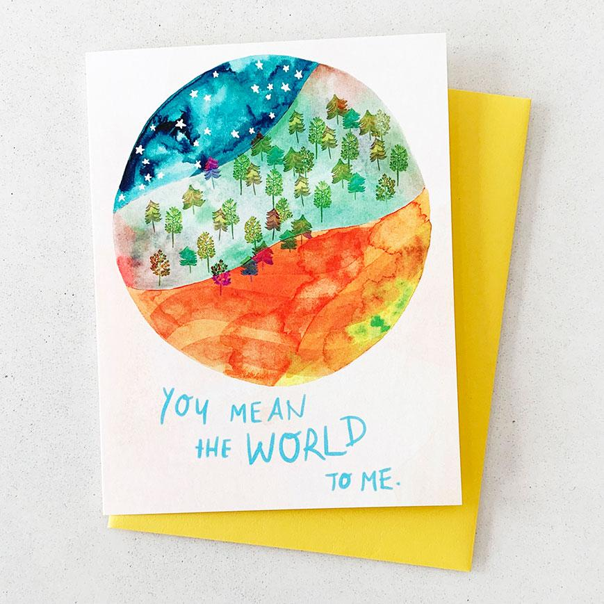 You Mean the World to Me - Card