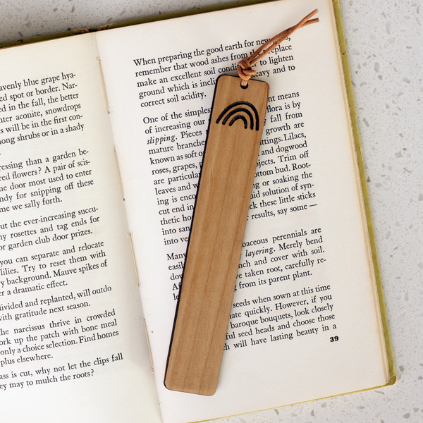 Wood Bookmark - Rainbow