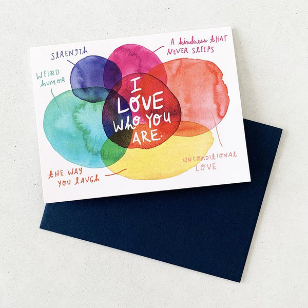 I Love Who You Are - Card