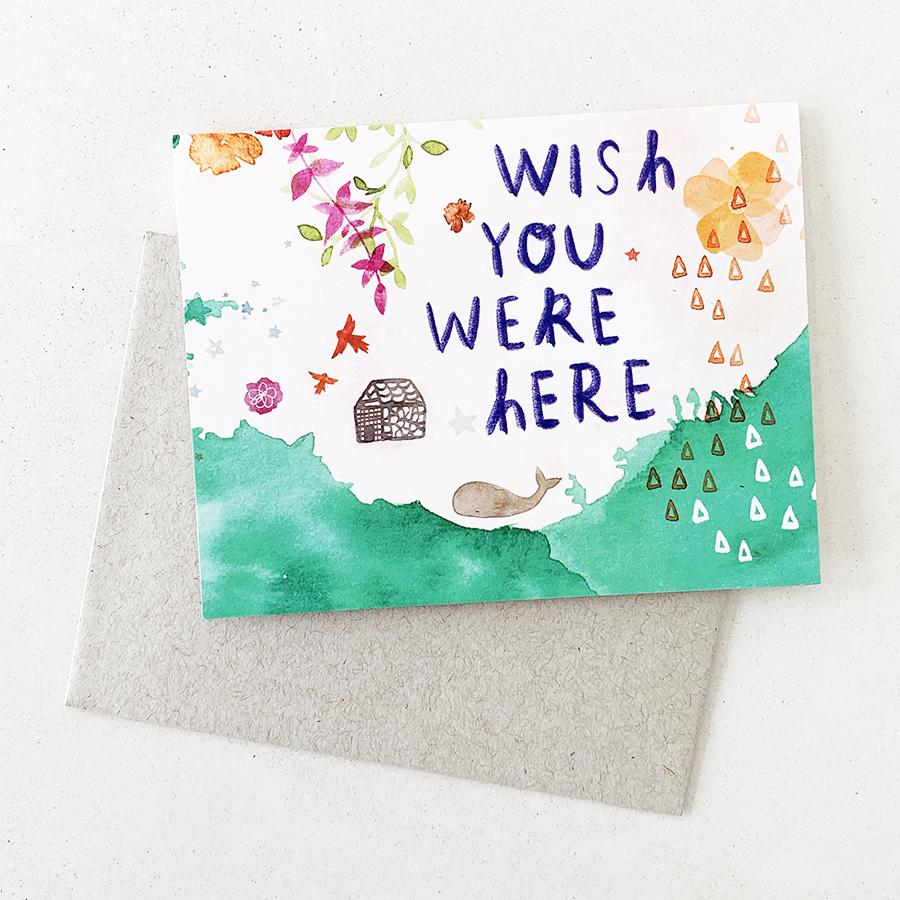 Wish You Were Here - Card