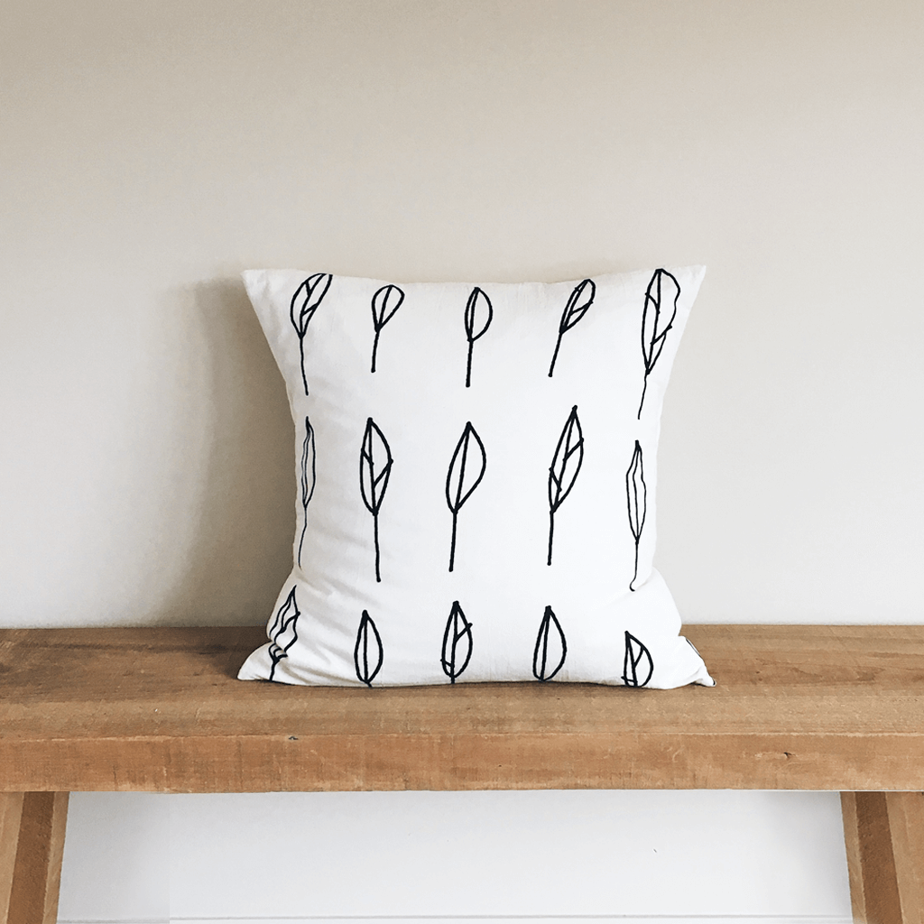 Leaves Organic Cotton Pillow