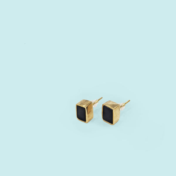 Rectangle Stud - Black
