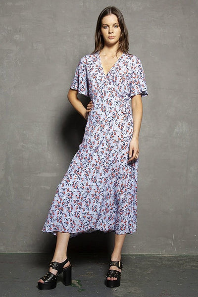 Stella Wrap Midi Dress - Trip to Provence