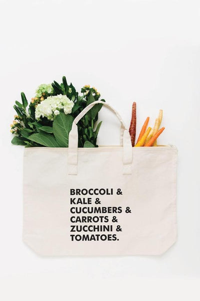 Veggie List Tote Bag - Large