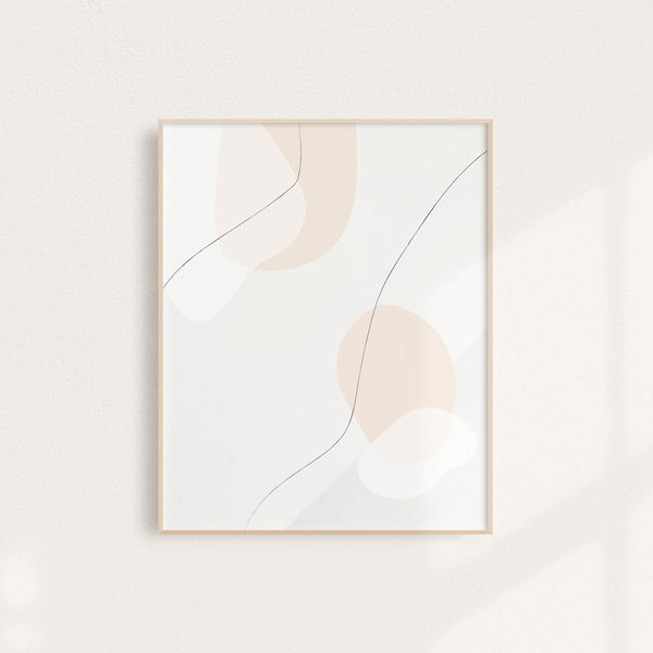 Warm Abstract Paint - Art Print 11 x 14