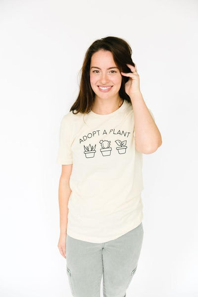 Adopt a Plant Organic Cotton Tee - Olive