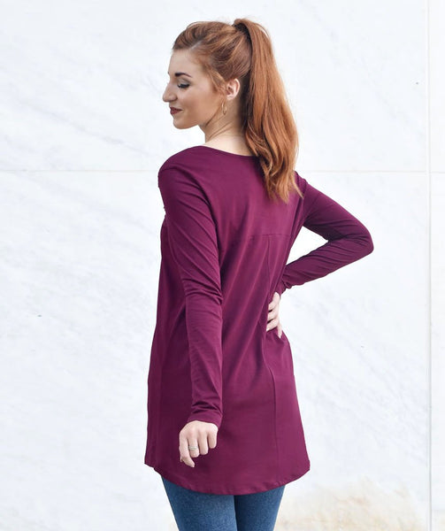 Amal Tunic - Deep Currant