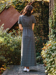 Wrap Maxi Dress - Black Dots