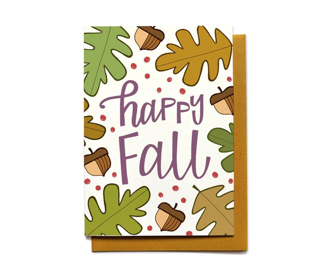 Happy Fall Autumn Card