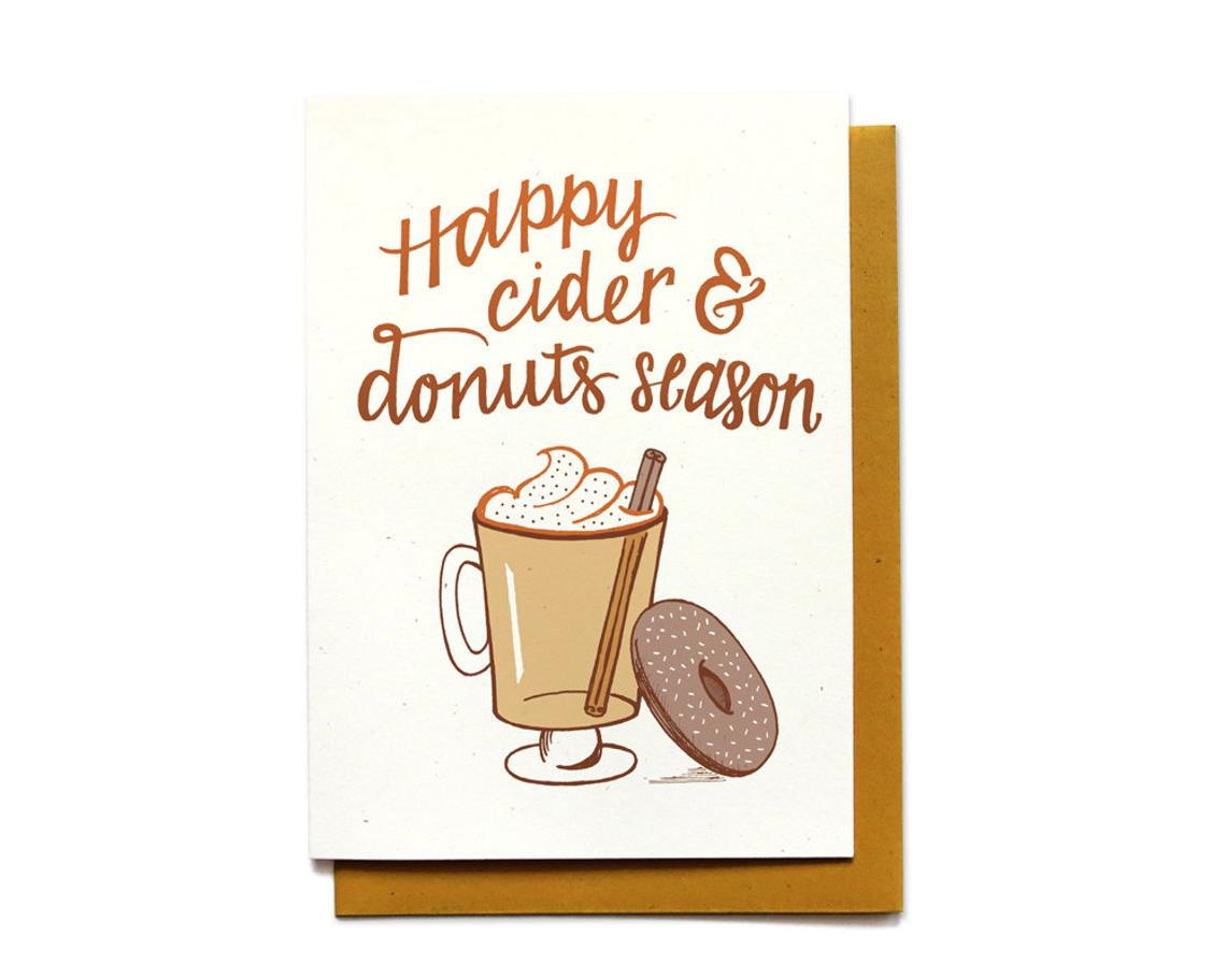 Cider & Donuts Autumn Card