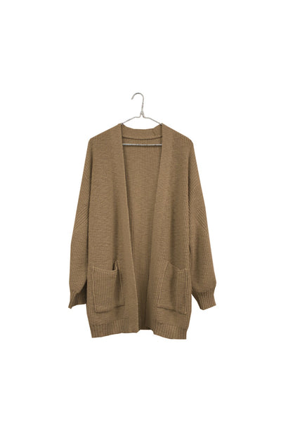 Open Cardigan Sweater in Acorn