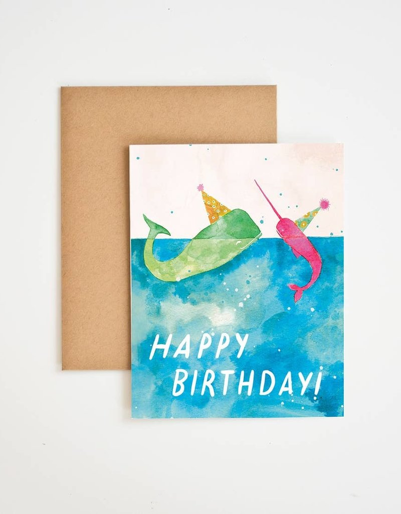Happy Birthday Whale - Card