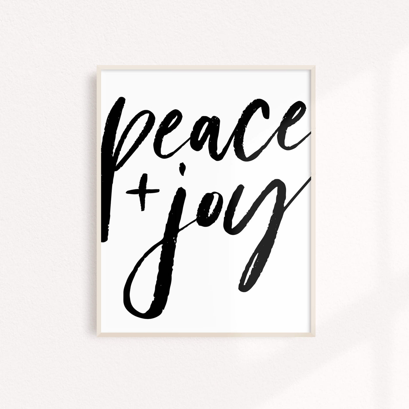 Peace + Joy - Art Print 11 x 14