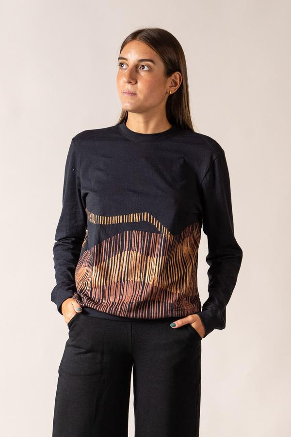 Sokha Top with Mountain Print