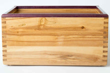 Load image into Gallery viewer, The Daily Toker | 3-Strain Cherry Wood Stash Box with Purple Heart Trim | Weed Box | StashhBox