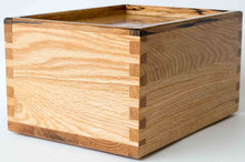 Load image into Gallery viewer, The Daily Toker | 3-Strain Oak Wood Stash Box with Zebra Wood Trim | Wooden Weed Box | StashhBox
