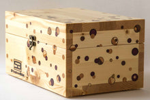 Load image into Gallery viewer, Pine StashhBox 2.0 with exotic hardwood dot inlays