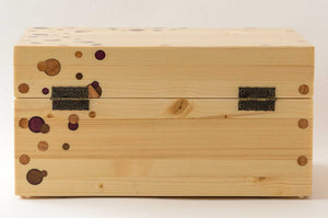 Pine StashhBox 2.0 with exotic hardwood dot inlays