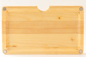 Magnetic pine wood rolling tray