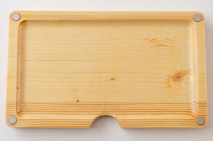 Magnetic pine wooden rolling tray