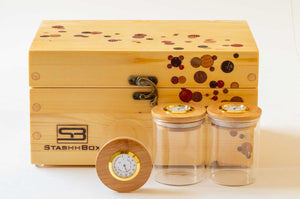 Daily Toker 2.0 StashhBox with Stashhjars on display