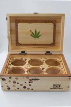 Load image into Gallery viewer, Front view of an open Chronic Toker StashhBox,
