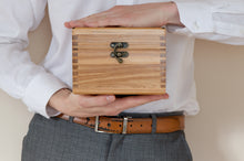 Load image into Gallery viewer, The Weekend Toker | Single Strain Oak Stash Box with Walnut Inlay | Weed Box | StashhBox