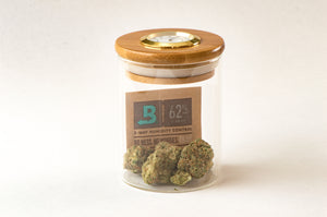 Small StashhJar | High-End Cannabis Stash Jar | Built-in Hygrometer