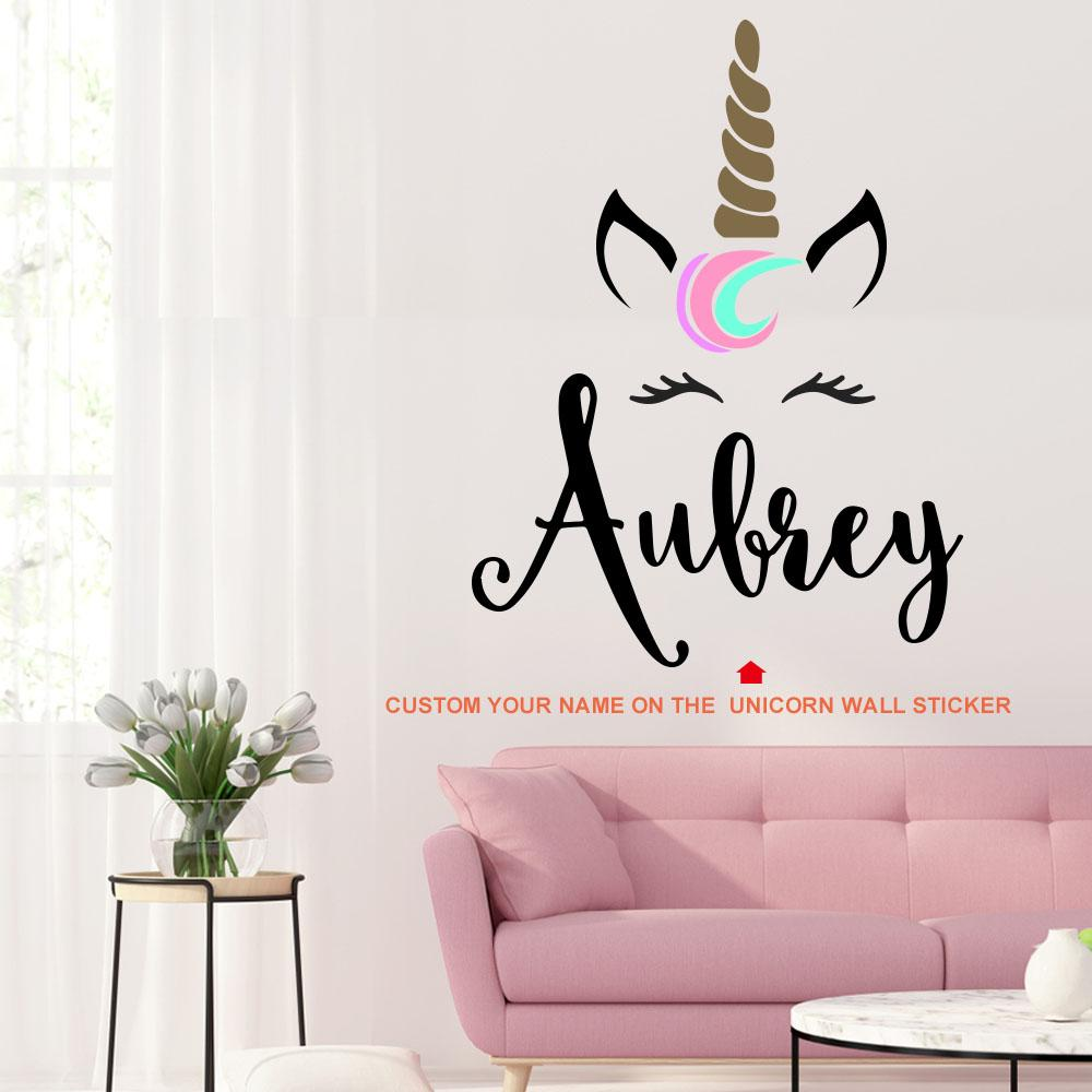 Personalized Unicorn Wall Sticker