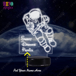 Personalized Astronaut LED Lamp