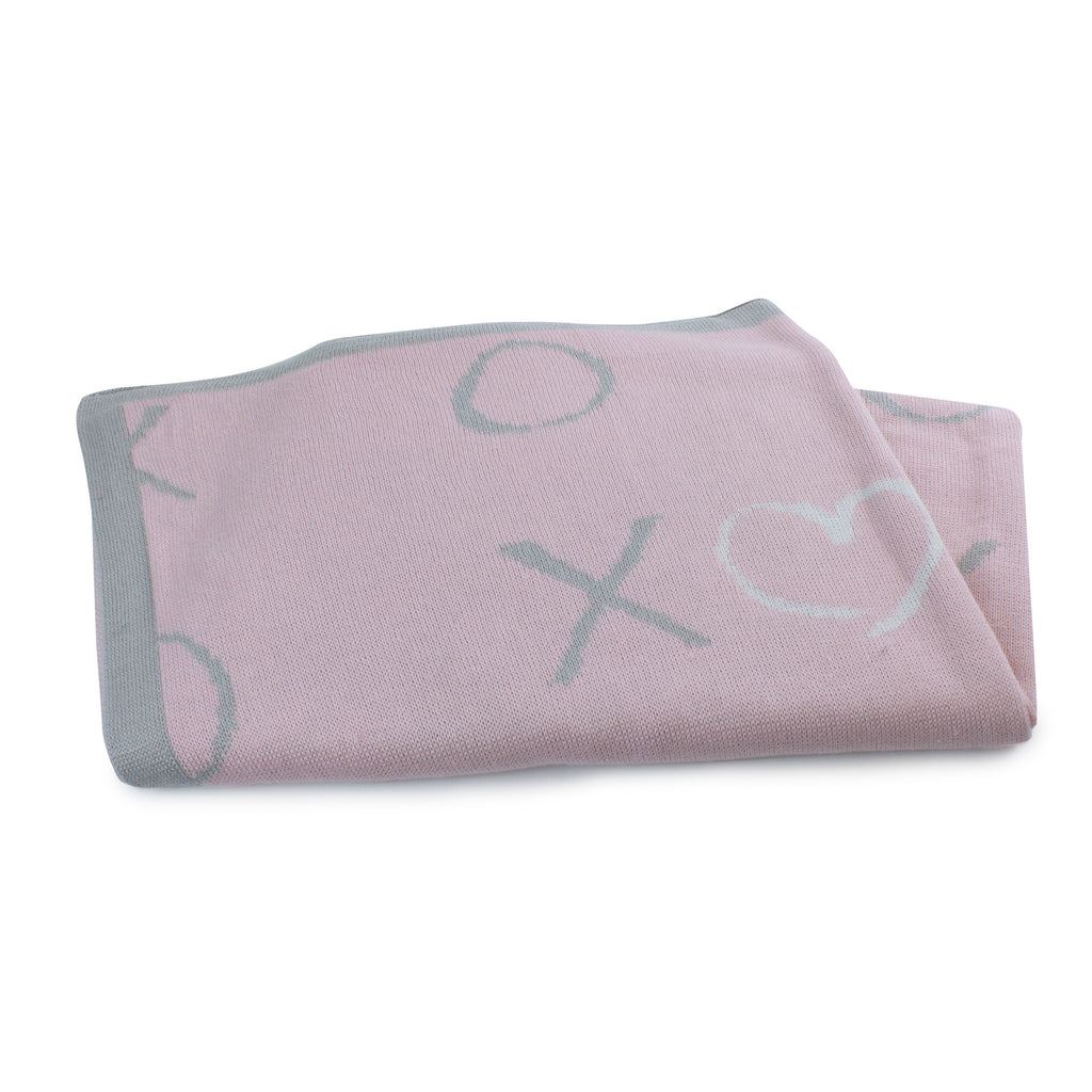 Pink Bloom Bamboo Knit Blanket - Bubba Blue Australia