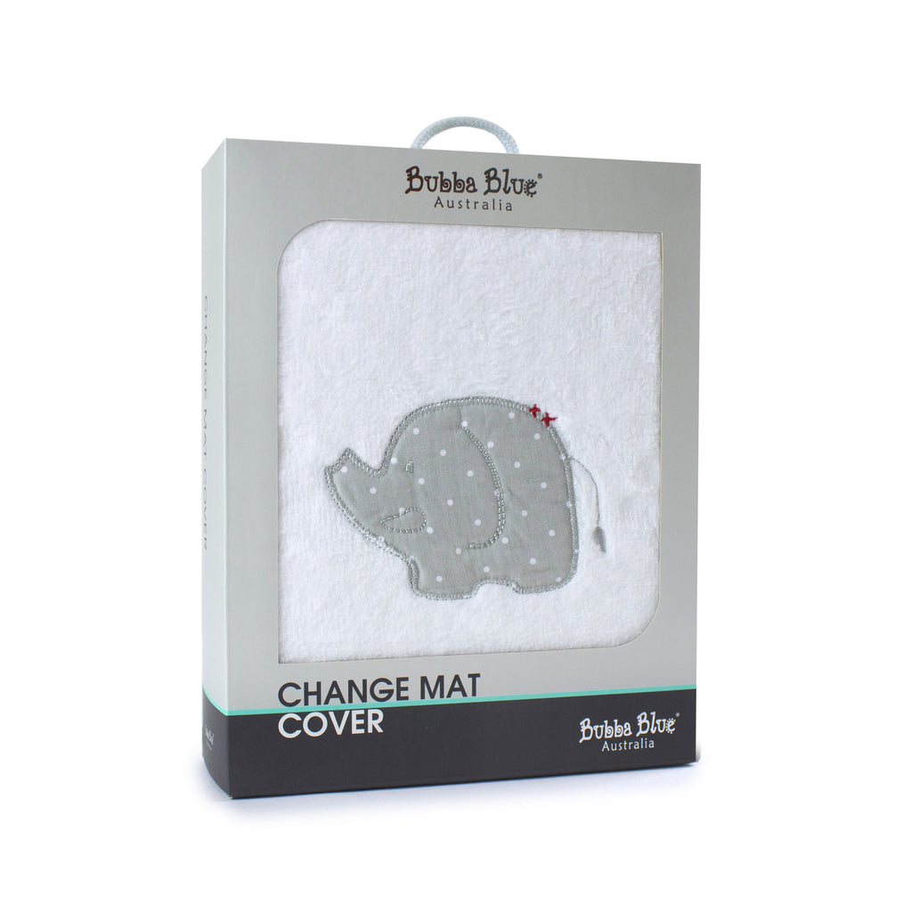 Petit Elephant  Change Mat Cover - Bubba Blue Australia