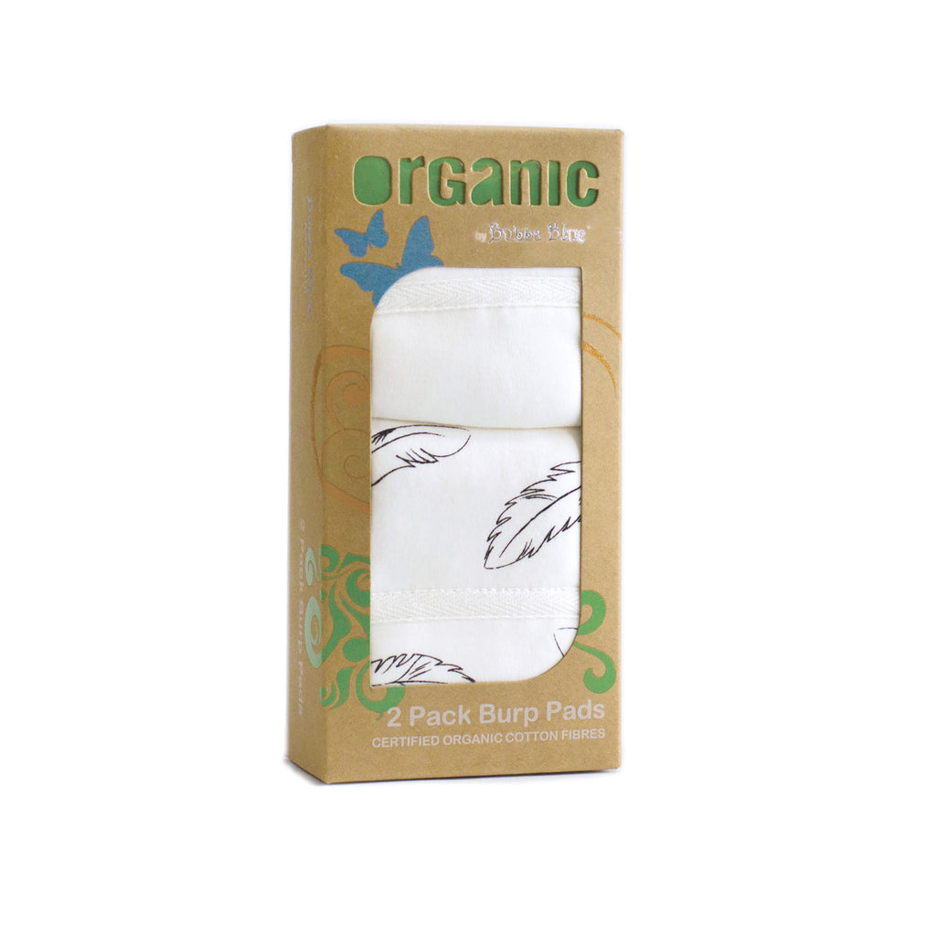 Organic Feathers Cotton 2 pack Burp Pads
