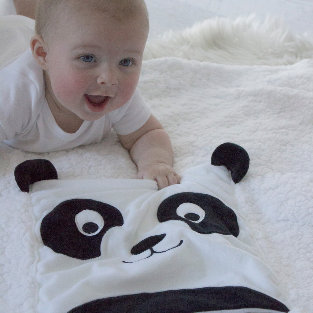 Zoo Animals Panda Novelty Blankie - Bubba Blue Australia