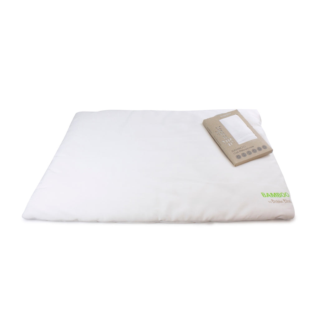 Bamboo White Cot Pillow - Bamboo filling & casing with bamboo pillowcase