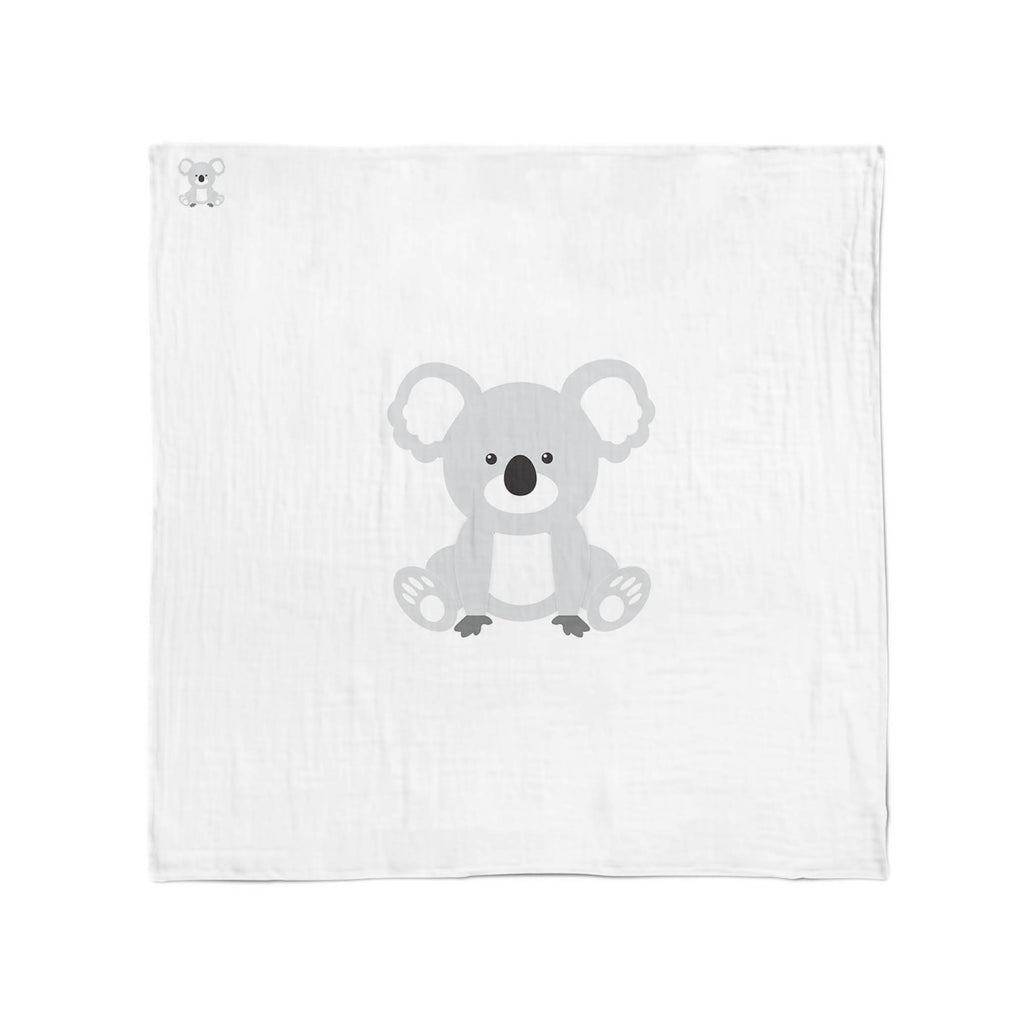 Aussie & Zoo Animals Muslin Wraps Bundle - Koala, Sheep, Cockatoo - Bubba Blue Australia