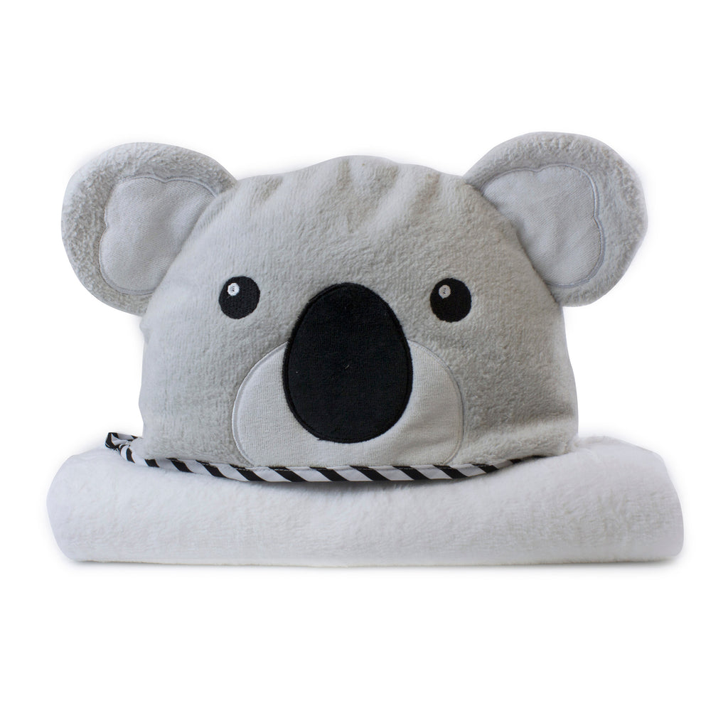 Aussie Animals 'Koala' Novelty Hooded Bath Towel - Bubba Blue Australia