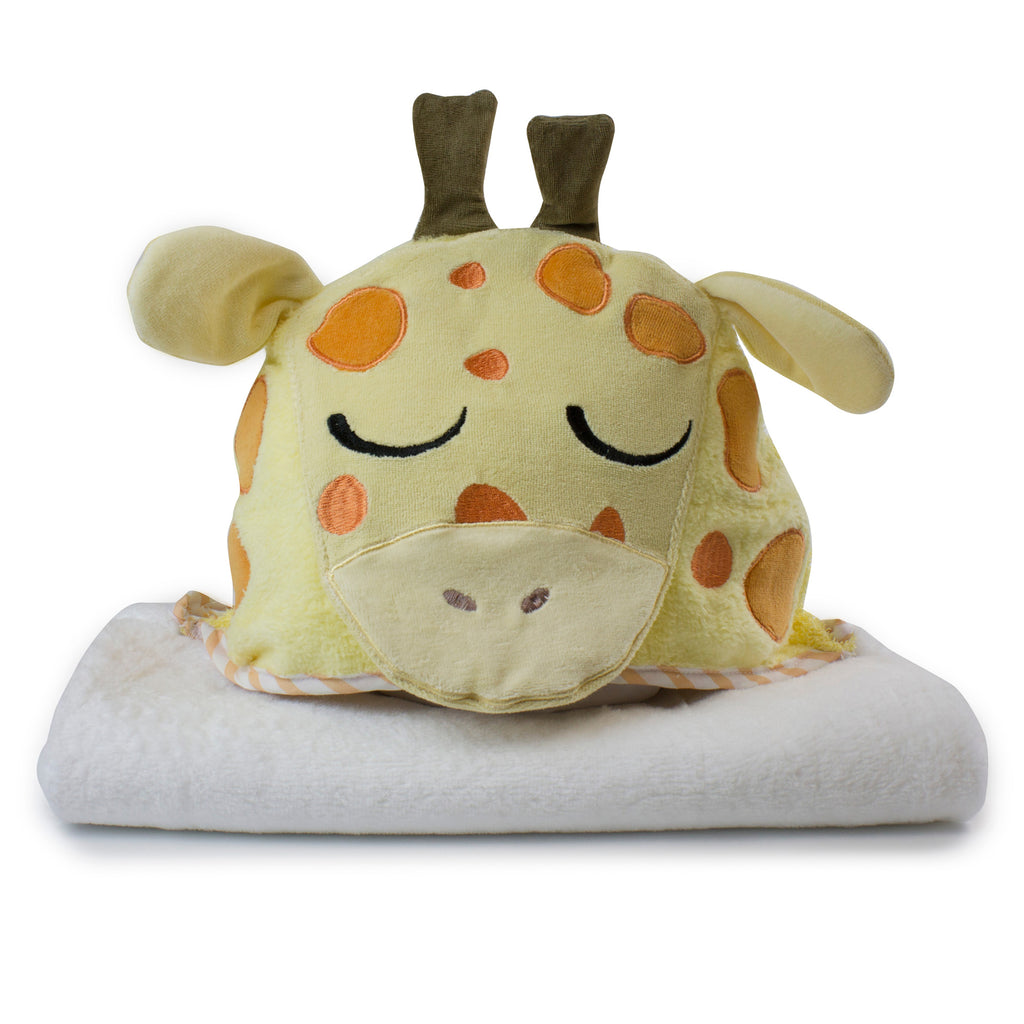 Zoo Animals 'Giraffe' Novelty Hooded Bath Towel - Bubba Blue Australia