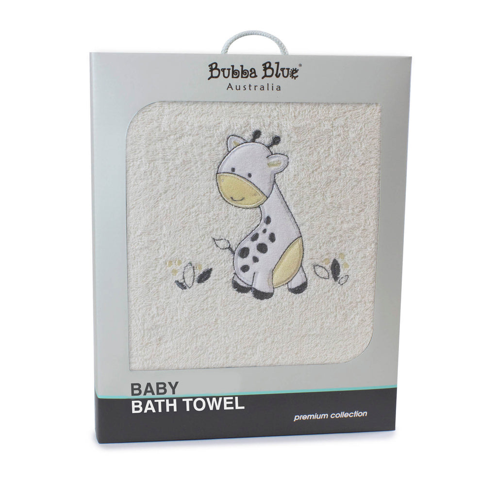 Vanilla Playtime Bath Towel - Bubba Blue Australia