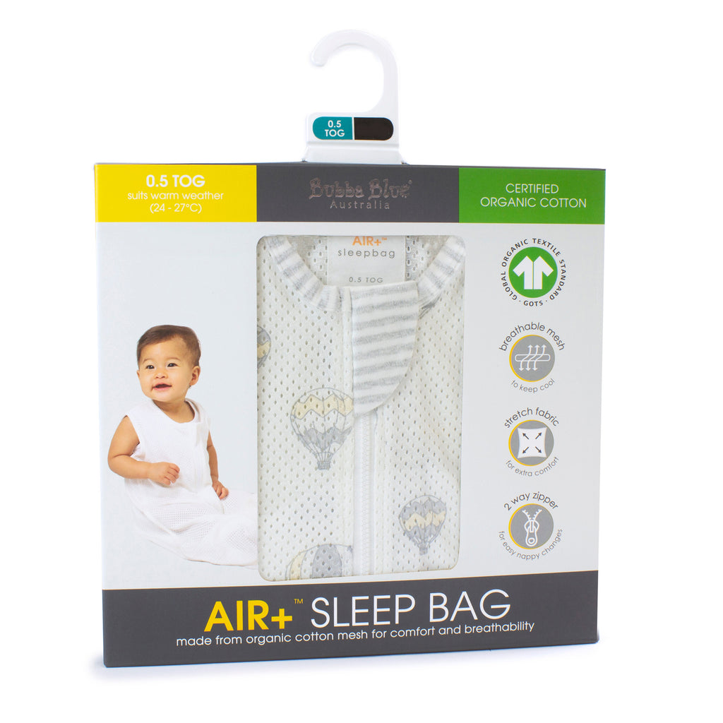 Buy One Get One Free Air+ Sleep Bag Hot Air Balloons - Bubba Blue Australia