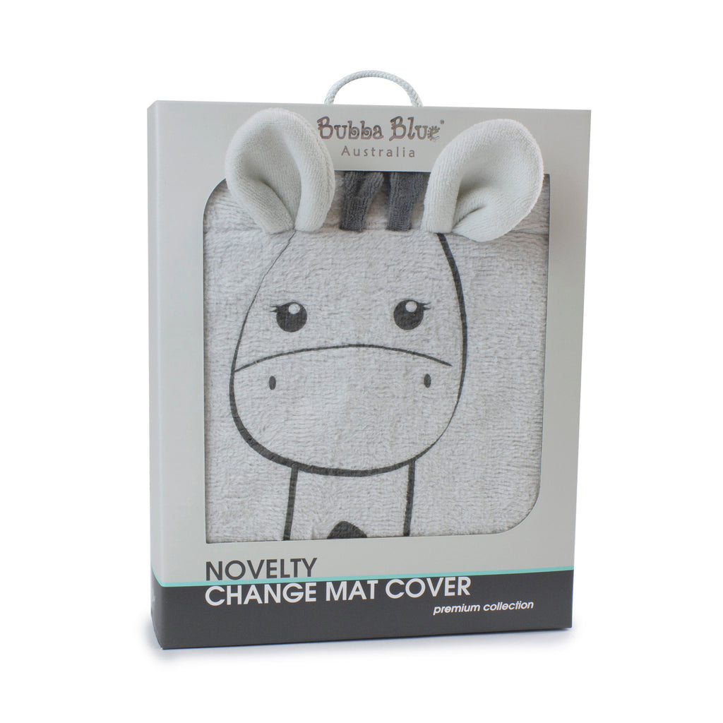 Grey Playtime Novelty Change Mat Cover - Bubba Blue Australia