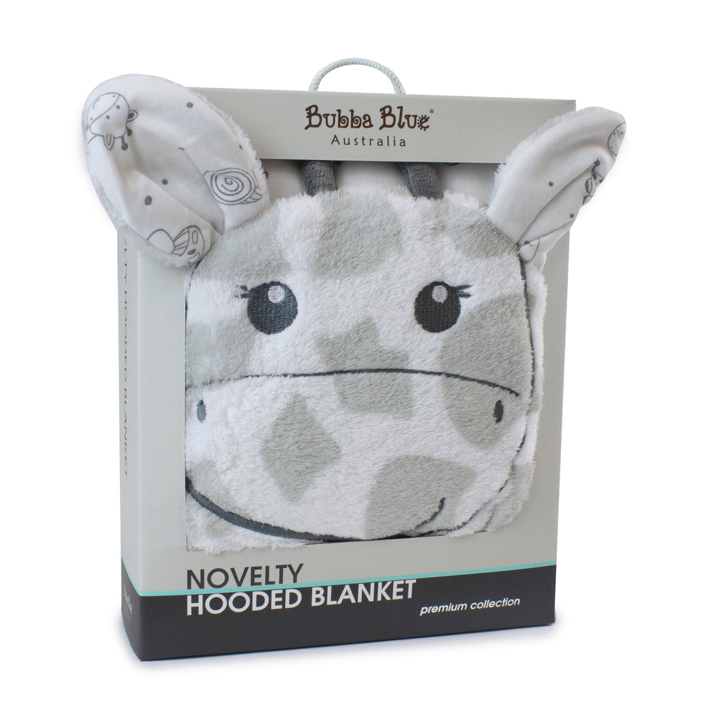 Grey Playtime Hooded Novelty Blanket - Bubba Blue Australia