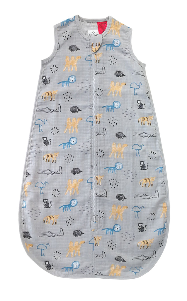 Buy One Get One Free Bamboo Muslin Sleep Bag 0.5 TOG Watercolour Jungle - Bubba Blue Australia