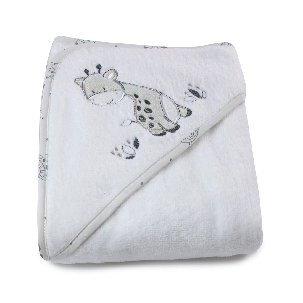 Grey Playtime Hooded Towel - Bubba Blue Australia