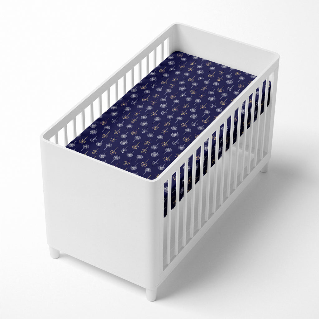 Night Sky Bamboo Jersey Cot Fitted Sheet - Bubba Blue Australia