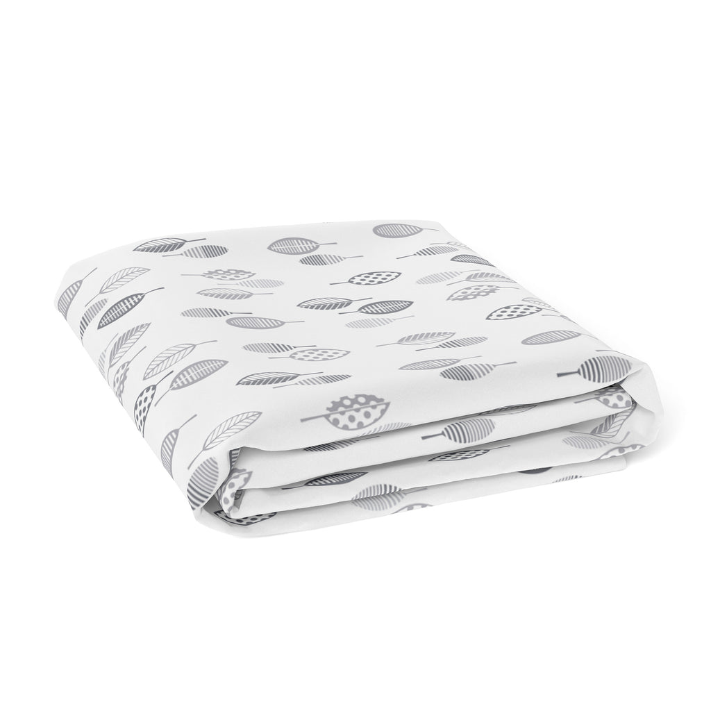 Silver Mist Bamboo Jersey Bassinet Fitted Sheet
