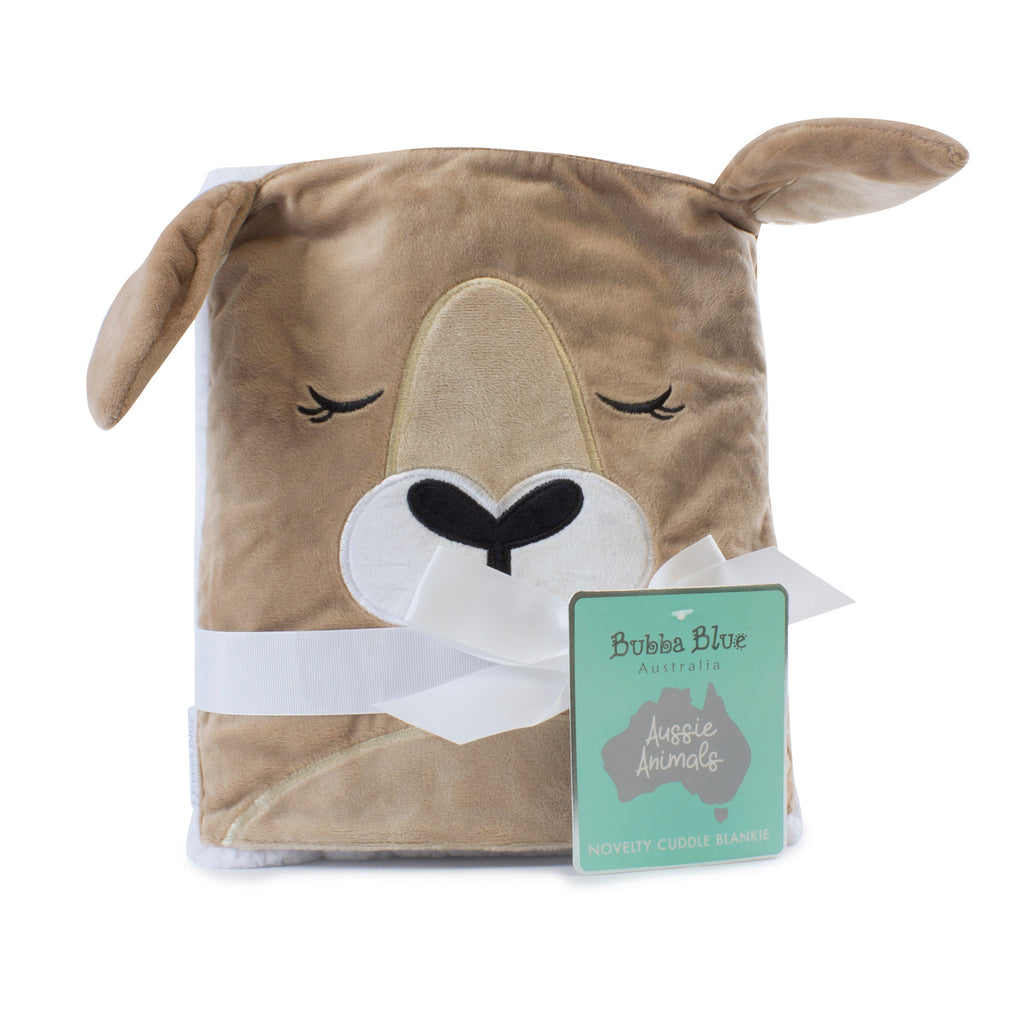Aussie Animals Kangaroo Novelty Blankie